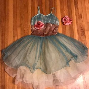 Gorgeous dance costume.